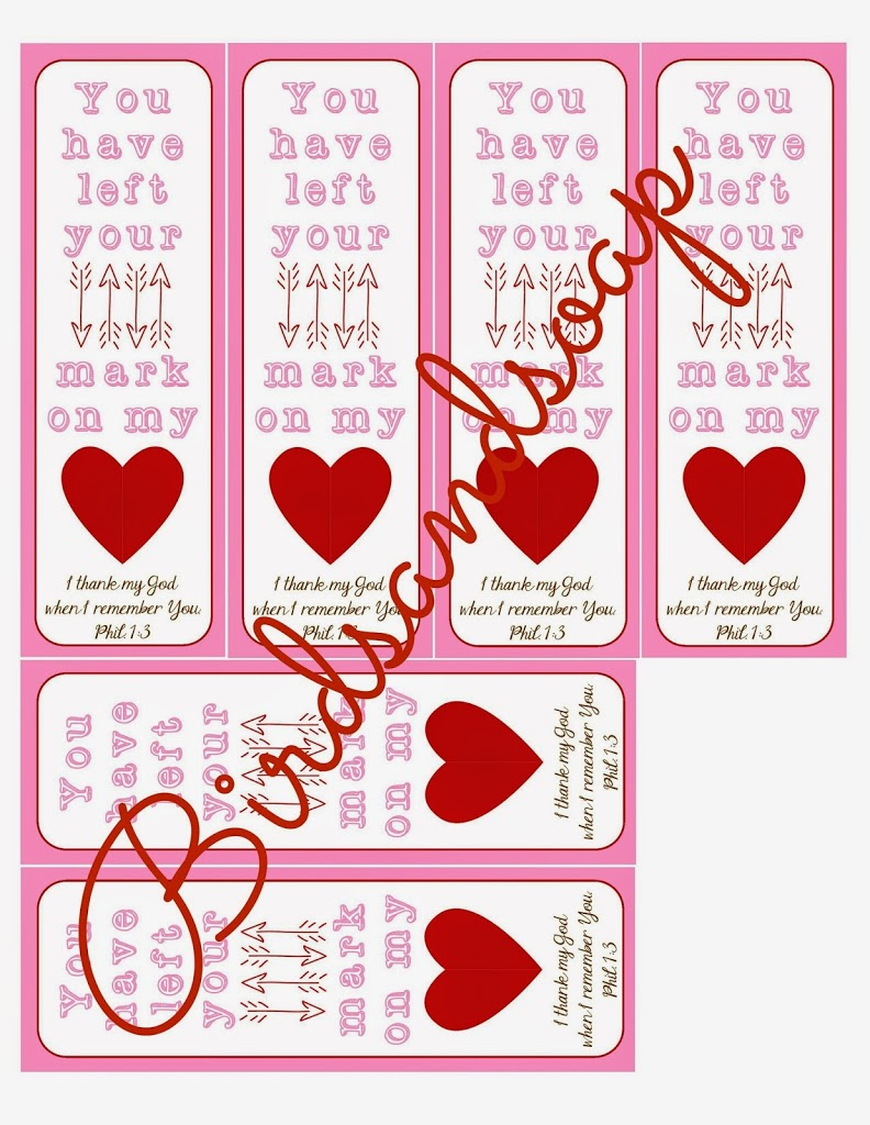 image relating to Printable Valentines Bookmarks identified as Valentine, Your self Contain Remaining Your Mark upon My Centre\u201d Printable