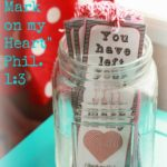 """""""Valentine, You Have Left Your Mark on My Heart"""" Printable Bookmark"""